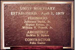 Founders Plaque